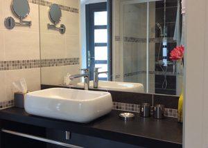 Salle de bain chambre d'hôtes la pommerie