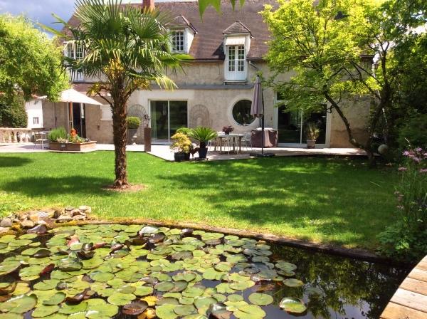 Jardin de la chambre d'hôte la pommerie